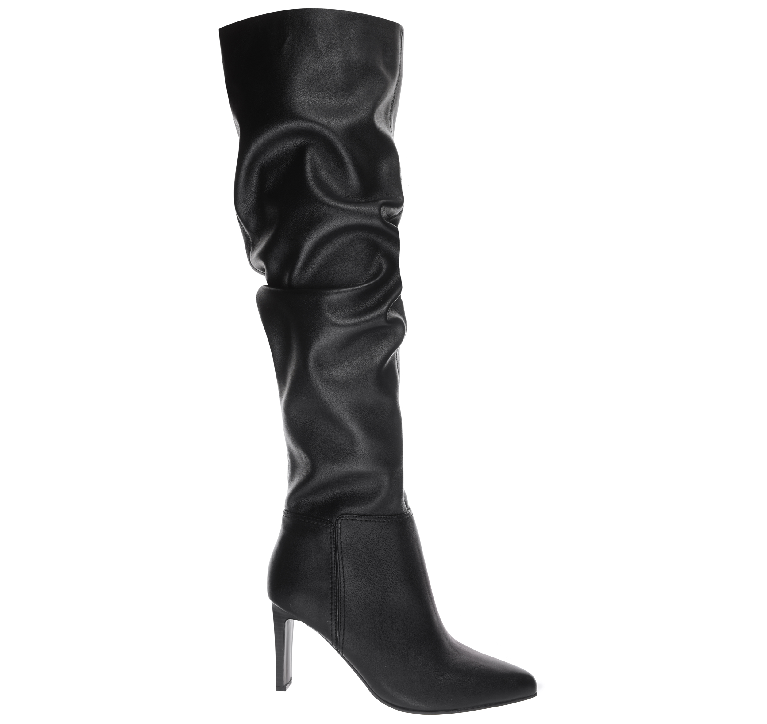 Wallis Black Leather Slouched Knee High Boots, £69/AED311.45