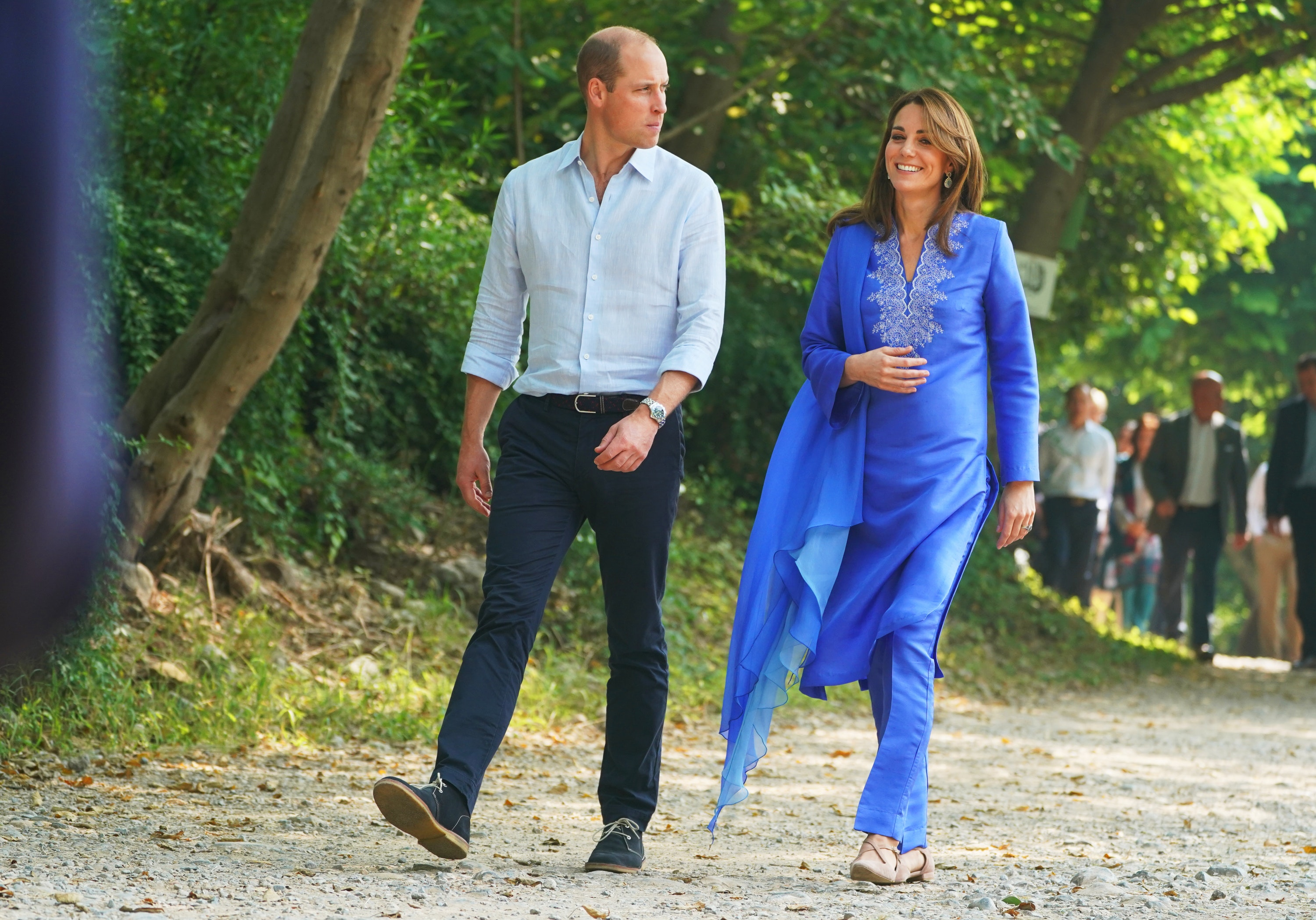 Kate wears a jewel-tone kurta
