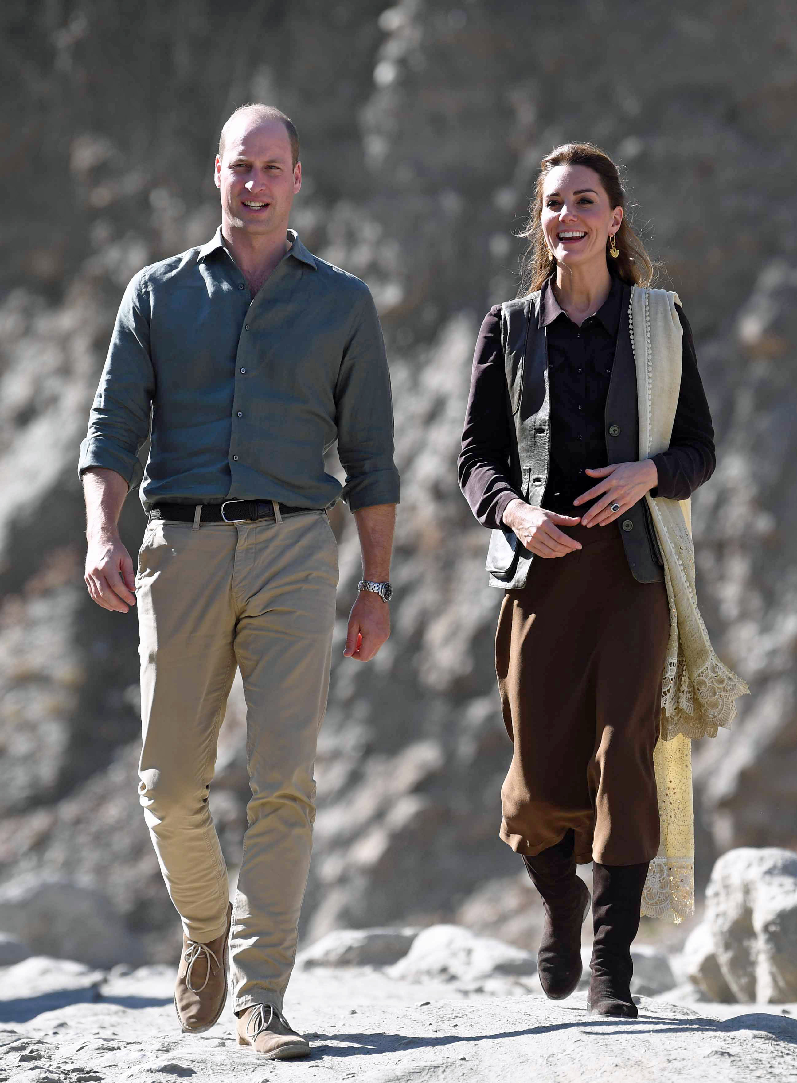 Kate kept things simple in various shades of brown to visit the Chitral Valley