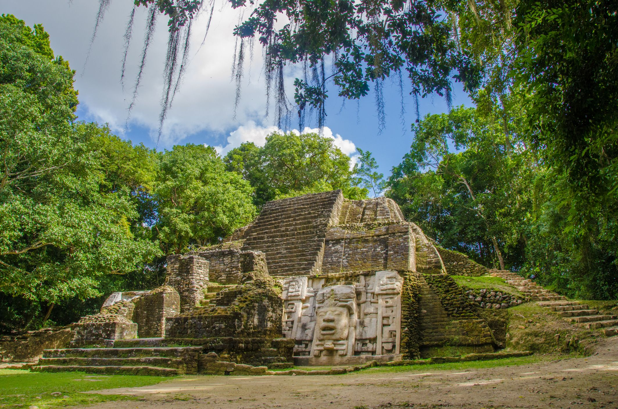 The Lamanai Mayan ruins