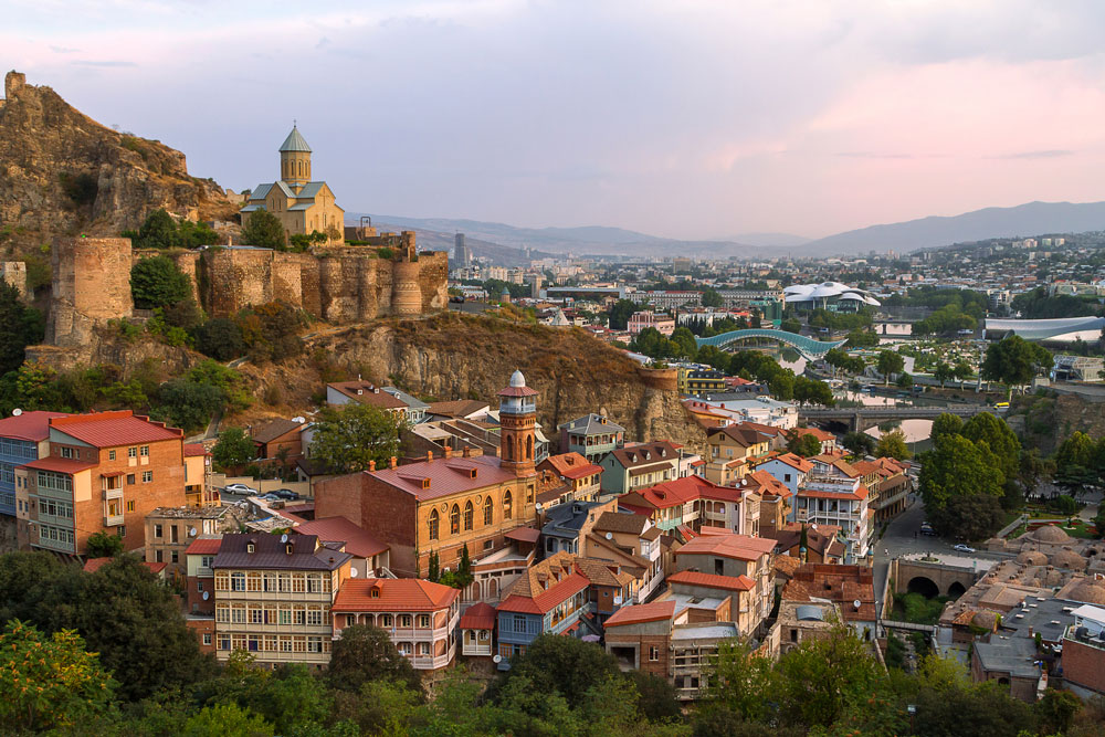 Narikala Castle and view over Tbilisi