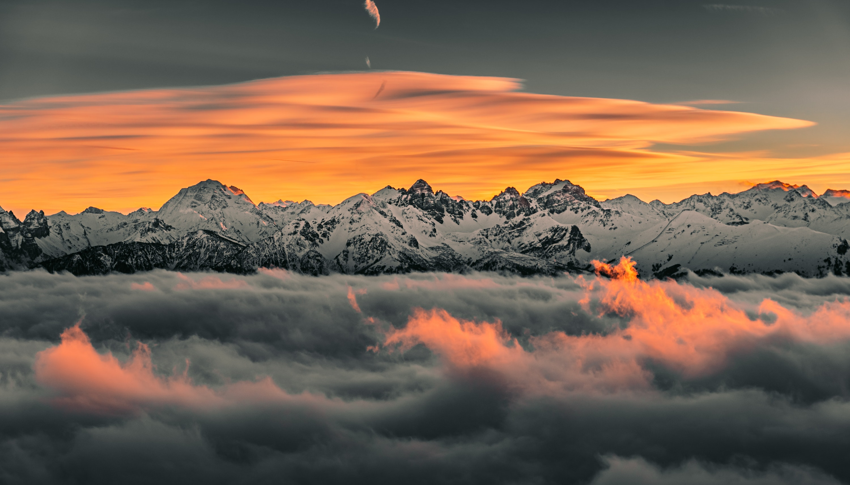 'Sunset above the clouds' by @olegp – Hafelekar, Austria