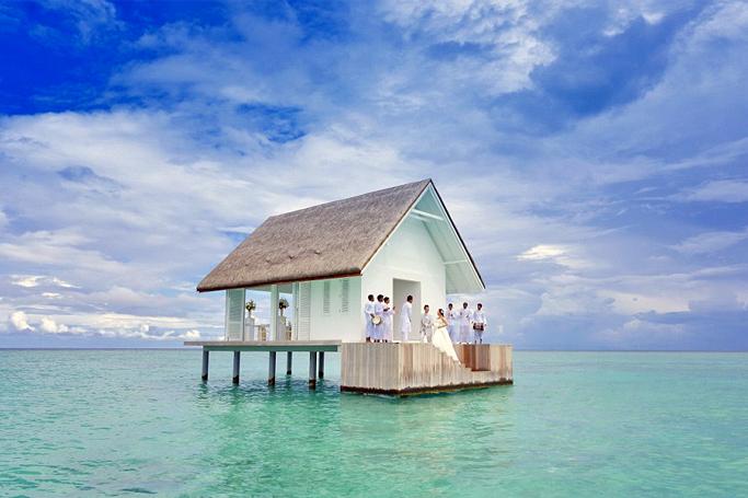 overwater wedding bungalow maldives