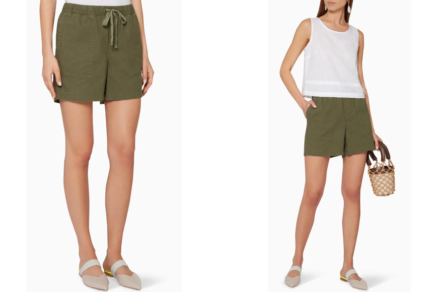 BANANA REPUBLIC - Linen-Cotton Pull-On Shorts