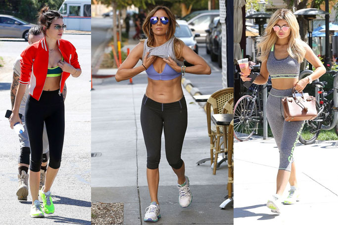 celeb workout wear