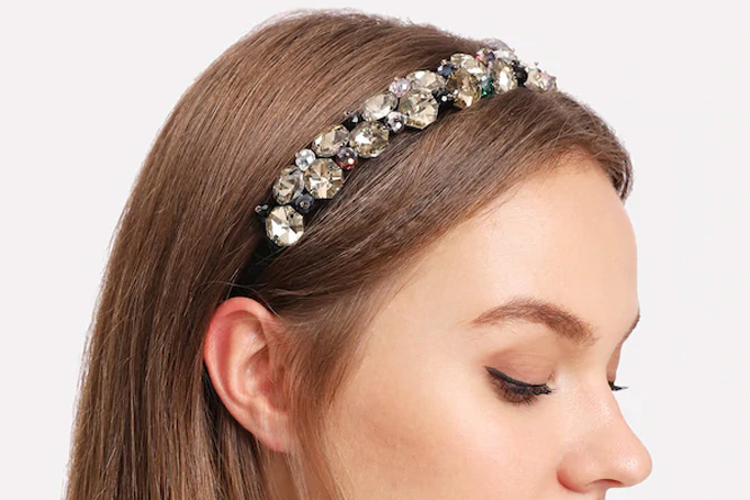 Rhinestone design headband on SHEIN