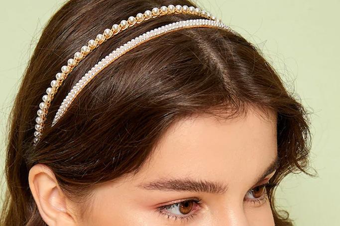 Faux pearl decor headband on SHEIN