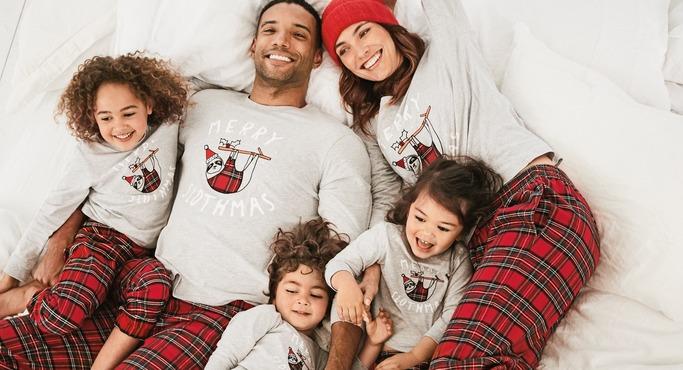 Merry Slothmas Tartan Pyjamas