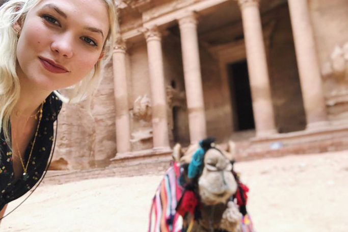 Karlie Kloss and Ellie Goulding in Jordan
