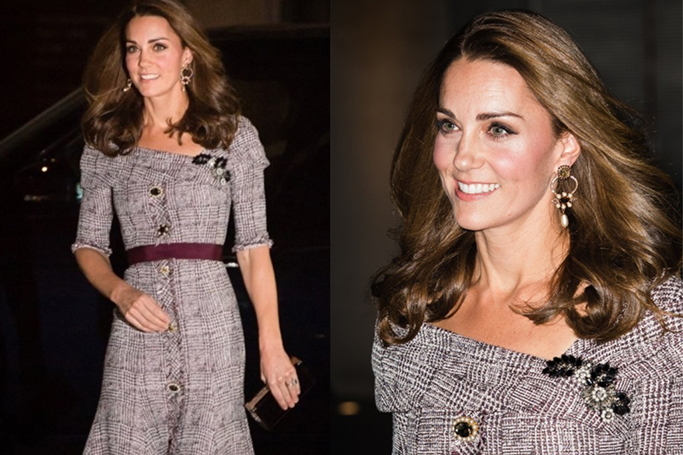 Kate Middleton Debuts An Edgier Look Dressed In Erdem