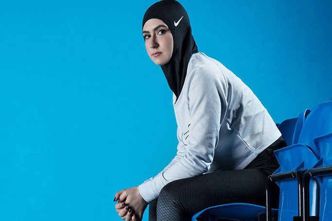 The Nike Pro Hijab debuts on the runway at Fashion Forward Dubai
