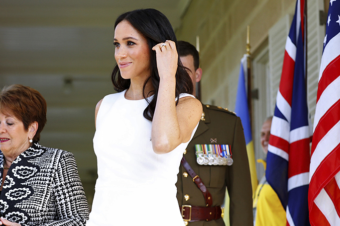 Duchess Of Sussex Debuts Her Baby Bump
