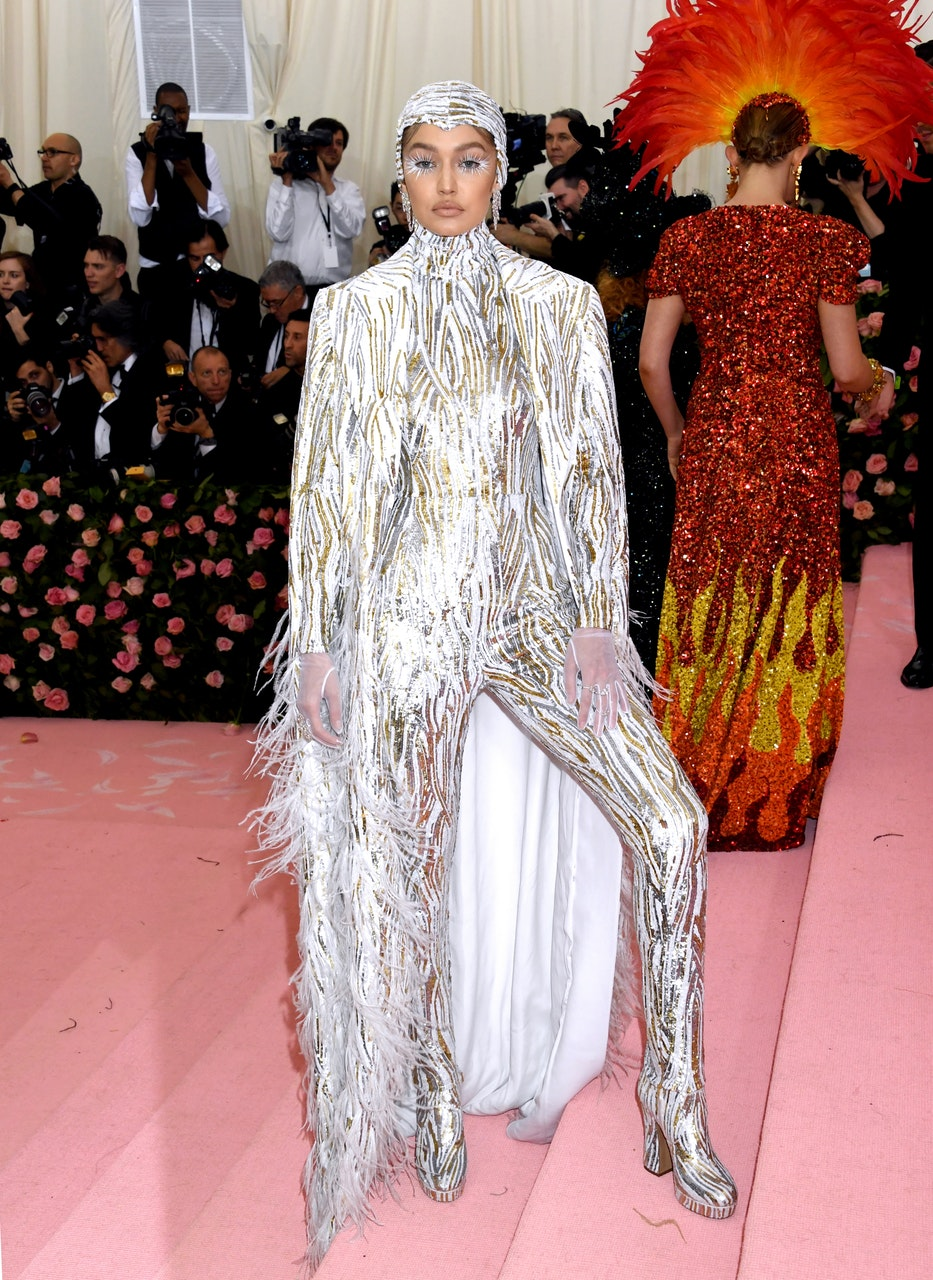 Feathers were the ultimate look at the Met Gala
