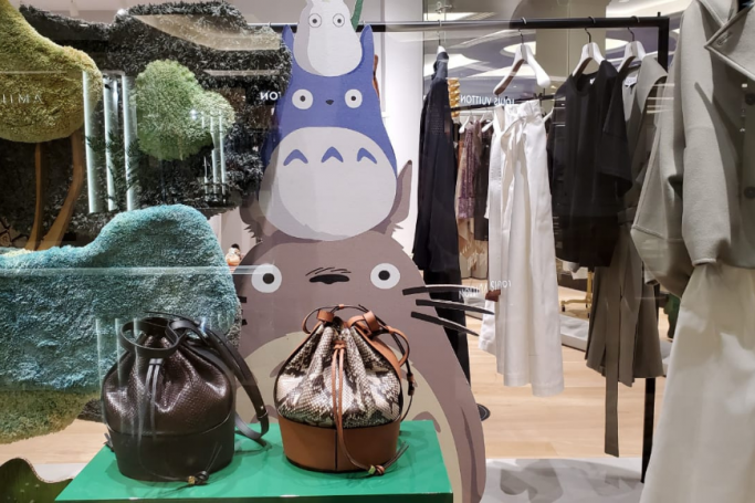 My Neighbour Totoro LOEWE collection in Dubai