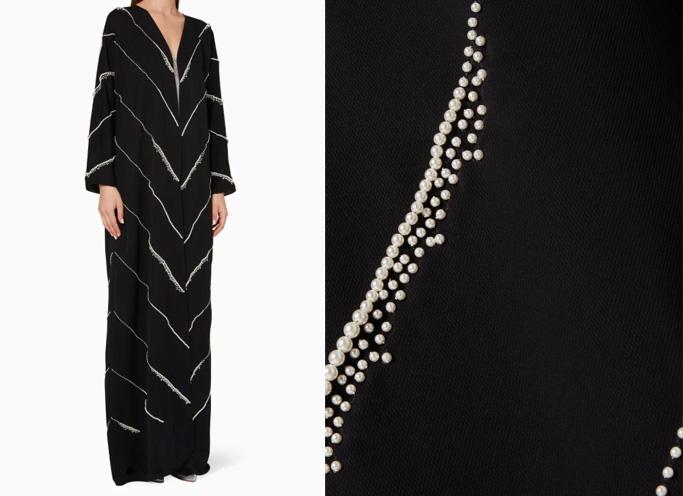 Luna & Sol Pearl-Embellished Abaya