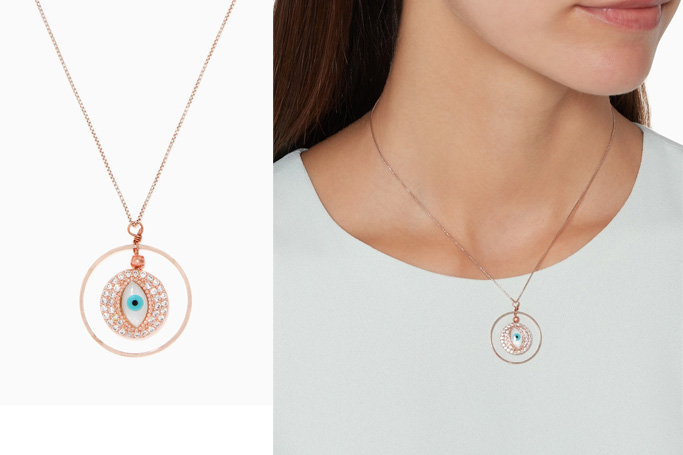 The Jewels Jar Evil-Eye Cubic Zirconia Necklace
