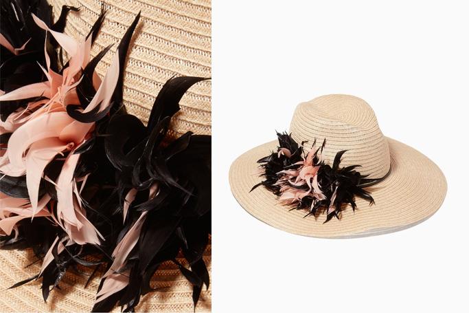Eugenia Kim Beige Floral Emmanuelle Hat