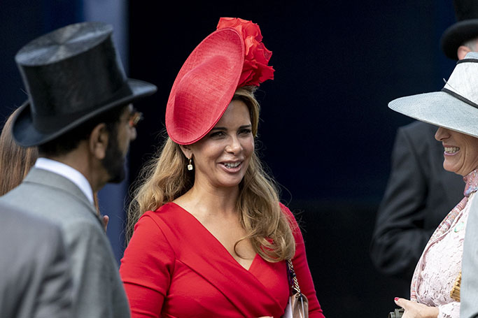Royal Race Day Fashion: Princess Haya At The Epsom Derby | ewmoda