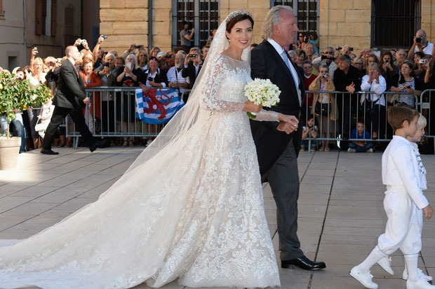 Famous Brides in Elie Saab Wedding Dresses -Princess Claire of Luxembourg