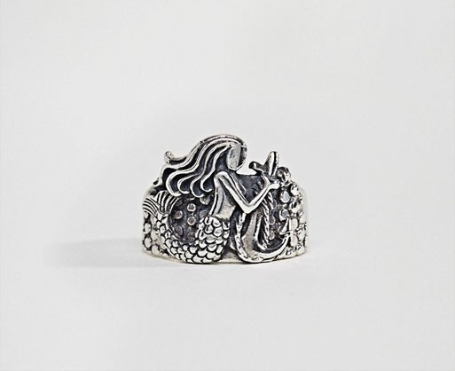 Sterling Silver Ring With Mermaid Design