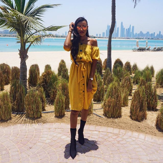 Dubai's Best Dressed: Yellow summer street style 2