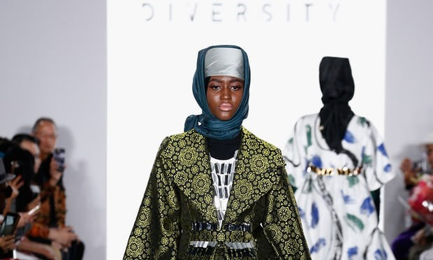 Hijab on high fashion runway
