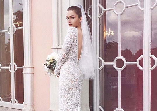 Famous Brides in Elie Saab Wedding Dresses -Eleonora Carisi