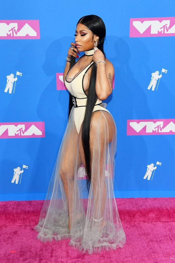 Nicki Minaj wearing Off-White