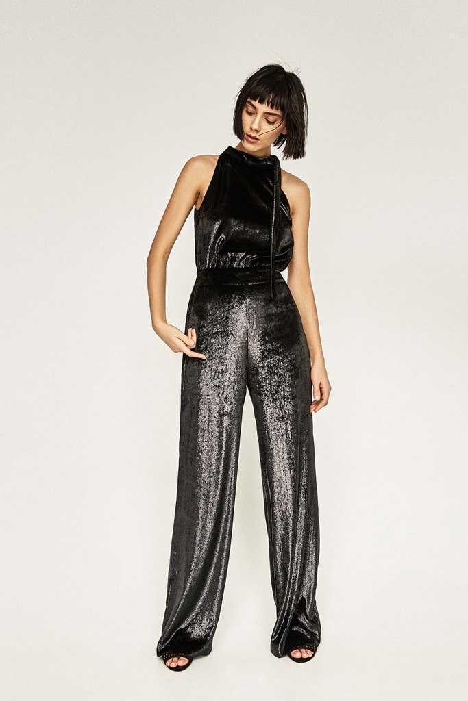 Zara - Shiny Velvet Jumpsuit