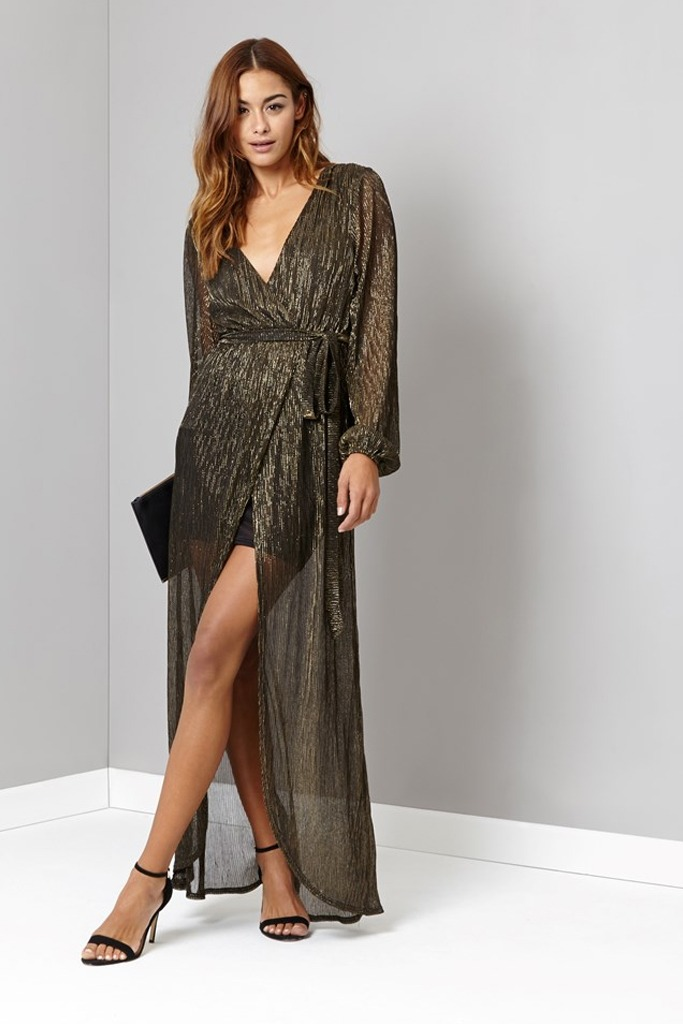 Lipsy - Glitter Tie Maxi Dress