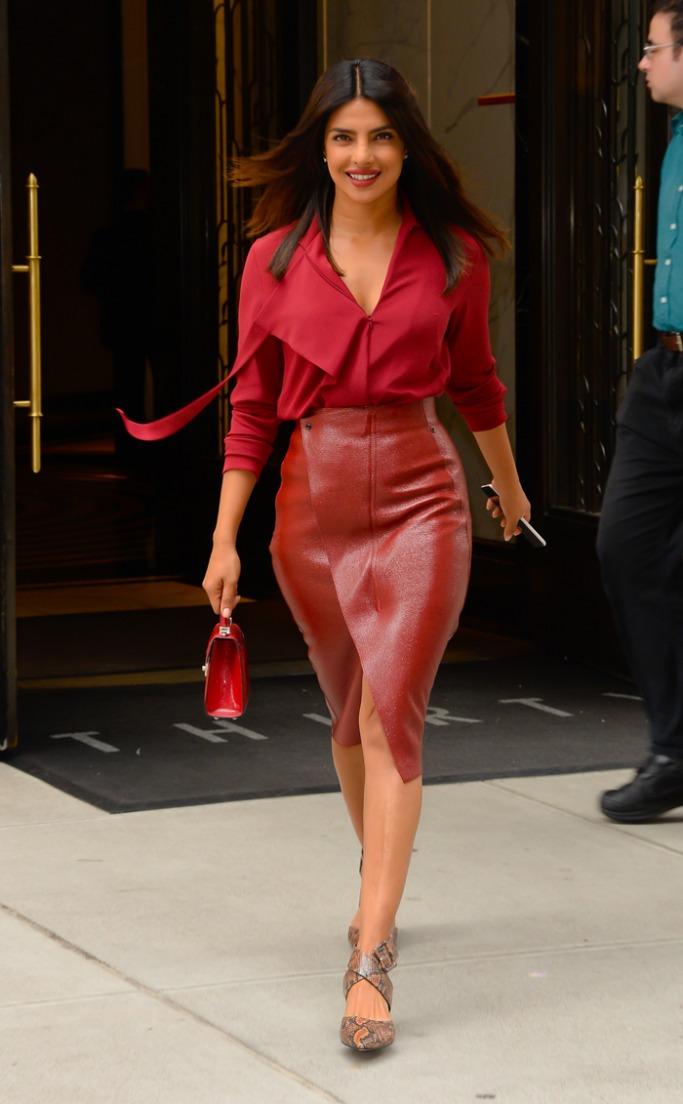 Priyanka Chopra in red monochrome look