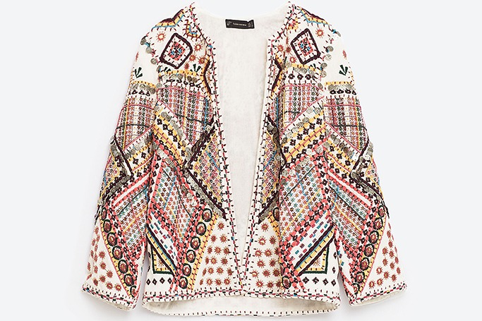 ZARA - Embroidered Jacket