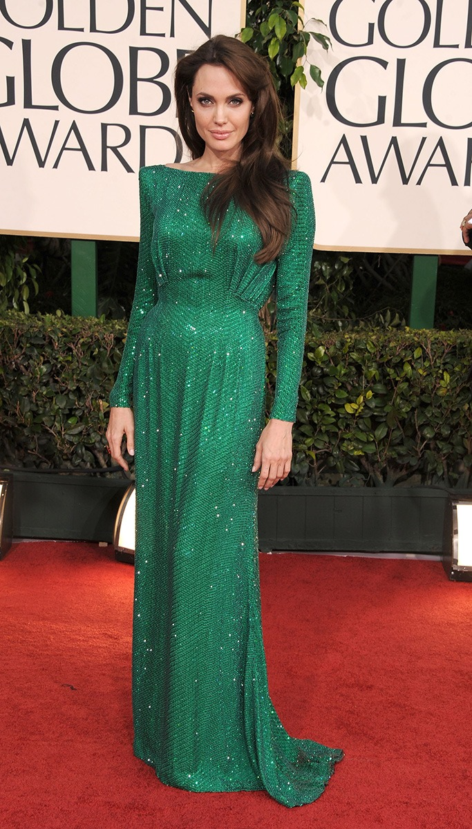 Angelina Jolie At The Golden Globe Awards 2011