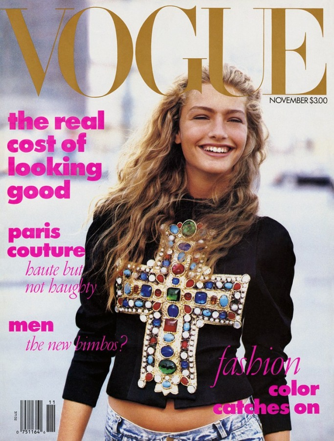 Anna Wintour's first Vogue cover