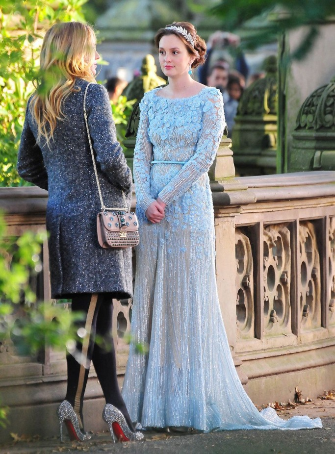 Famous Brides in Elie Saab Wedding Dresses -Blair Waldorf