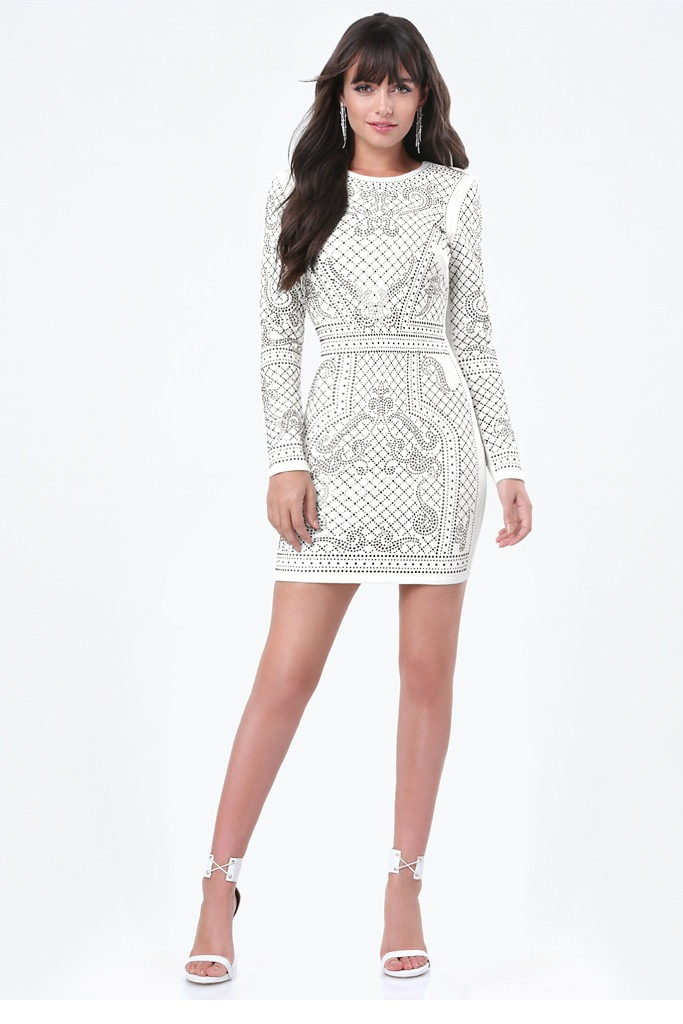 Bebe Arabia - Studded Jacquard Dress