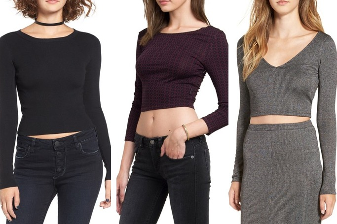 DREAMERS BY DEBUT Rib Knit Crop Sweater/ RVCA Tame Crop Top/Leith Rib Knit Crop Top available at shop.nordstrom.com (image credit: shop.nordstrom.com)