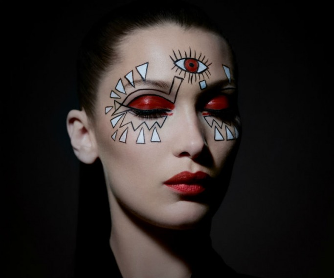 Dior and Bella Hadid Halloween Makeup
