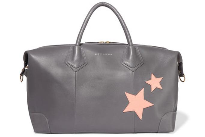 Eddit Harrop - Voyager appliquéd textured-leather weekend bag