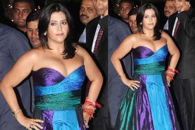 Ekta Kapoor at Karan Johar's birthday bash in 2012