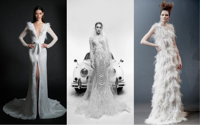 Spring 2019 Bridal Collections Feathers