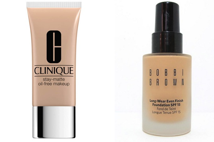 Clinique's Clinique Stay-Matte Oil-Free Makeup and for dry skin, we recommend Bobbi Brown's Long-Wear Even Finish Foundation.