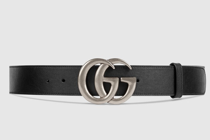 Gucci - Leather Belt with Double G Buckle