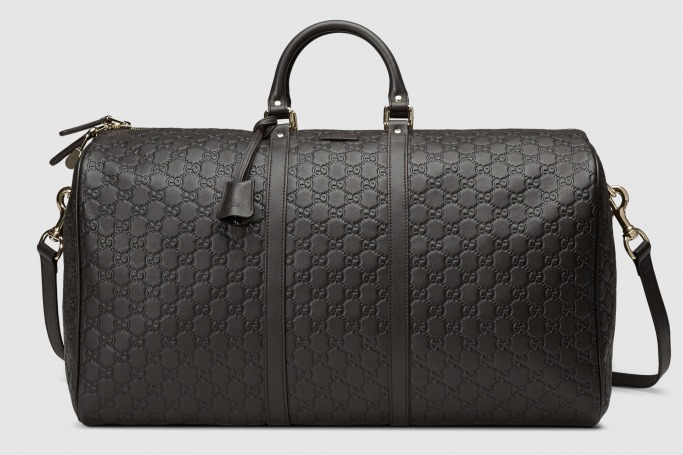 Gucci - Large Guccissima carry-on duffle