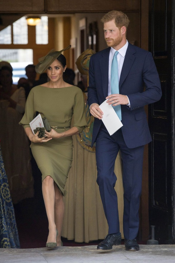 Meghan Markle at Prince Louis Christening 1