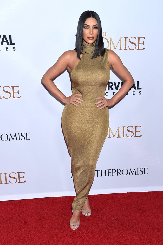 Kim Kardashian in vintage Versace