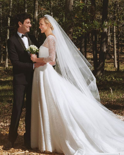 Karlie Kloss Dior Wedding Gown