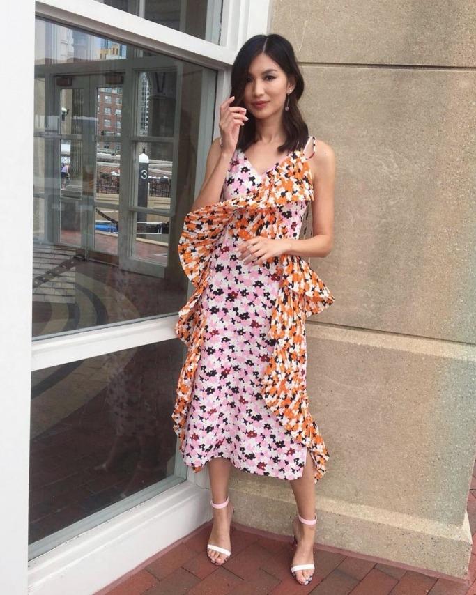 Gemma Chan in Kenzo