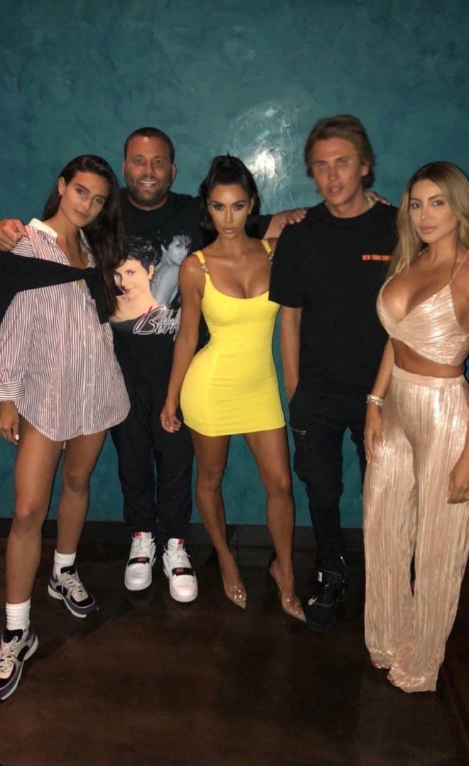 Kim Kardashian in yellow vintage Versace