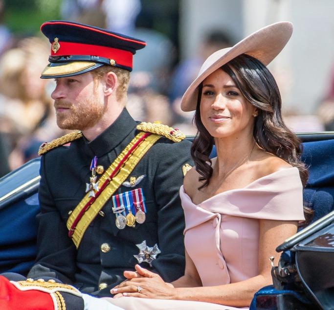 Meghan Markle boat neckline pretty in pink